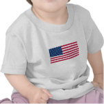Camiseta del bebé de la bandera americana