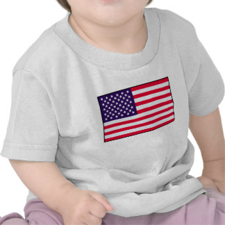 Camiseta del bebé de la bandera de los E E U U