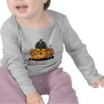 Camiseta del bebé de la calabaza de Halloween