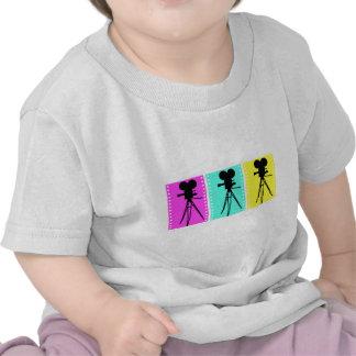 Camiseta del bebé de la cámara del tecnicolor