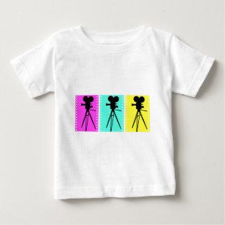 Camiseta del bebé de la cámara del tecnicolor polera