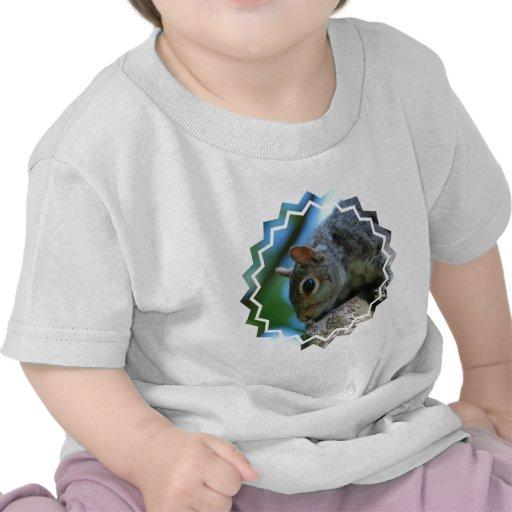 Camiseta del bebé de la cara de la ardilla