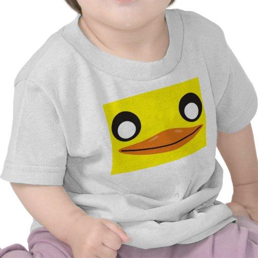 camiseta del bebé de la cara del anadón