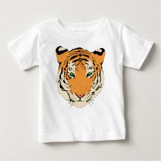 Camiseta del bebé de la cara del tigre del playera para bebé