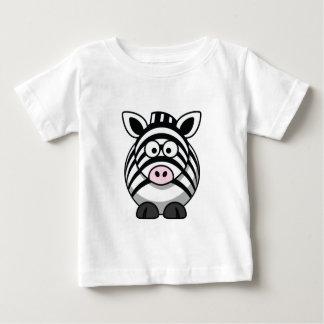 Camiseta del bebé de la cebra playeras