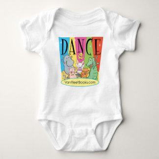 Camiseta del bebé de la danza