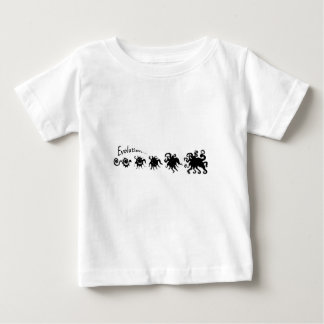 Camiseta del bebé de la evolución poleras