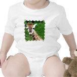 Camiseta del bebé de la foto de la jirafa