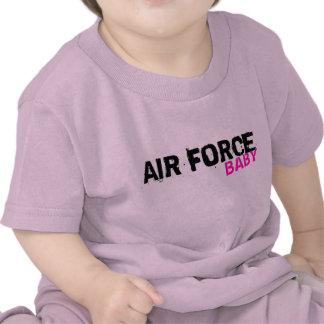 Camiseta del bebé de la fuerza aérea