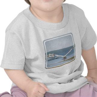 Camiseta del bebé de la gaviota