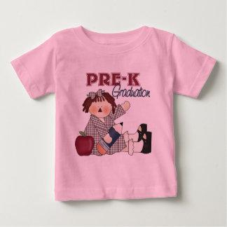 Camiseta del bebé de la graduación de Pre-K Poleras