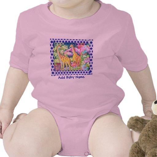 Camiseta del bebé de la jirafa