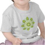 Camiseta del bebé de la mandala de la tierra y del