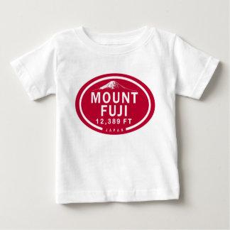 Camiseta del bebé de la montaña del monte Fuji