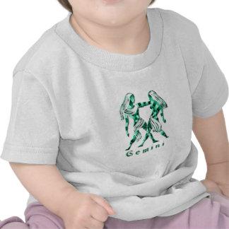 Camiseta del bebé de la muestra de los géminis