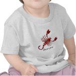 Camiseta del bebé de la muestra del escorpión