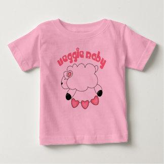 Camiseta del bebé de la niña del Veggie Playeras