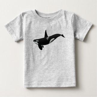 Camiseta del bebé de la orca de la natación playera para bebé