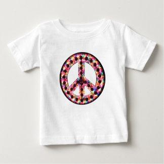 camiseta del bebé de la paz de 5 colores camisas