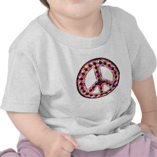 camiseta del bebé de la paz de 5 colores
