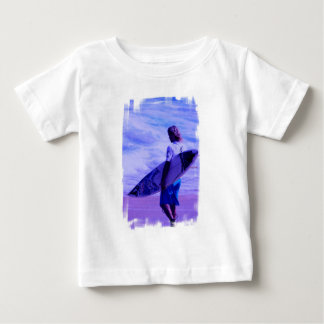 Camiseta del bebé de la persona que practica surf remera