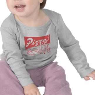 Camiseta del bebé de la pizza del vegano del