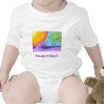 Camiseta del bebé de la playa de Newport