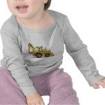 Camiseta del bebé de la retroexcavadora