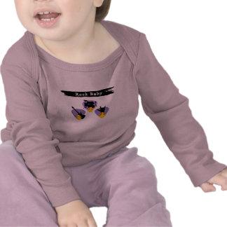 Camiseta del bebé de la roca