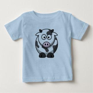 Camiseta del bebé de la vaca del dibujo animado playera