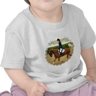 Camiseta del bebé de las extensiones del Dressage