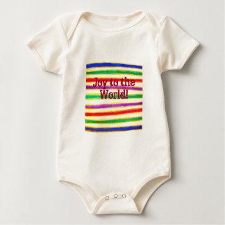 Camiseta del bebé de las Felices Navidad Mameluco