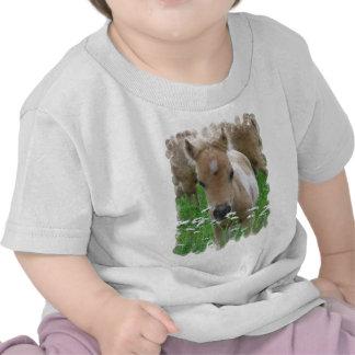 Camiseta del bebé de las margaritas del potro que