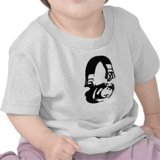 Camiseta del bebé de los auriculares de la música