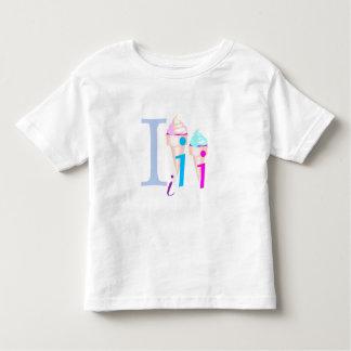 Camiseta del bebé de los helados playera de niño