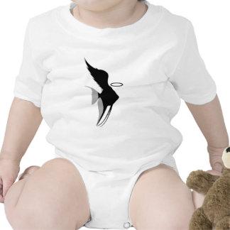 Camiseta del bebé de los pescados del ángel