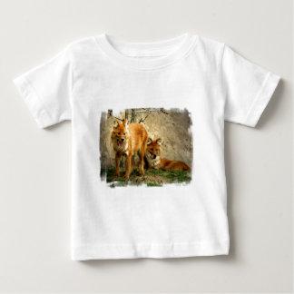 Camiseta del bebé de los zorros