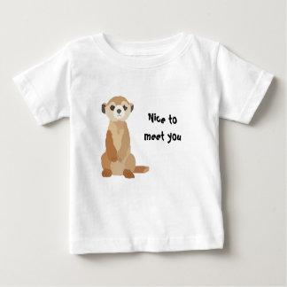 Camiseta del bebé de Meercat Playera Para Bebé
