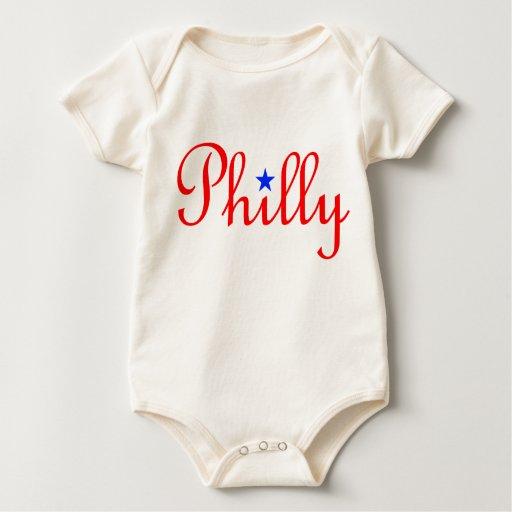 Camiseta del bebé de Phillies Mamelucos
