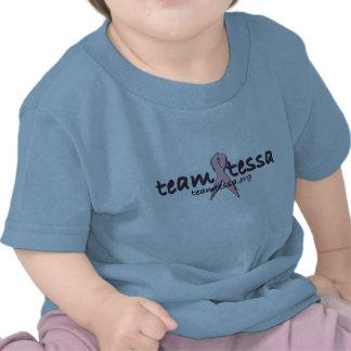 Camiseta del bebé de Tessa del equipo - azul
