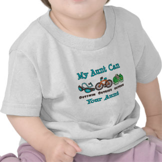 Camiseta del bebé de tía Outswim Outbike Outrun