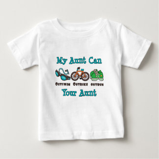 Camiseta del bebé de tía Outswim Outbike Outrun Playera