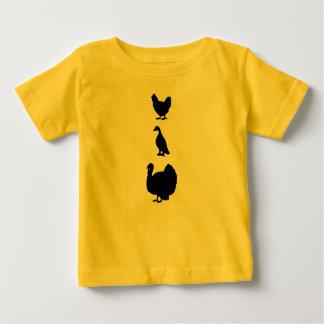 Camiseta del bebé de Turducken Camisas