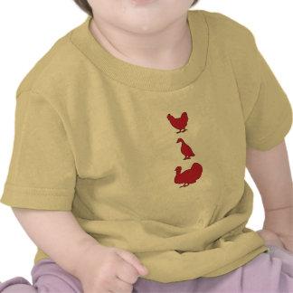 Camiseta del bebé de Turducken en rojo