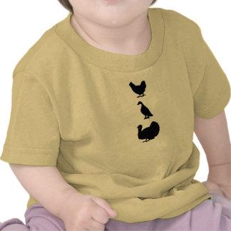 Camiseta del bebé de Turducken