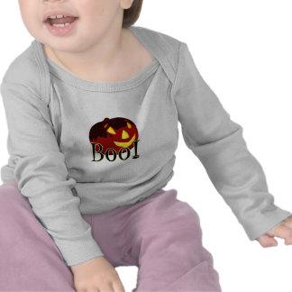 Camiseta del bebé del abucheo de la Jack-O-Lintern