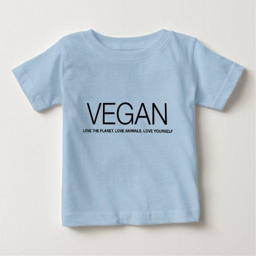Camiseta del bebé del amor del VEGANO