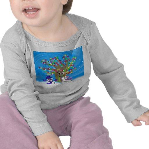 Camiseta del bebé del árbol del día de fiesta