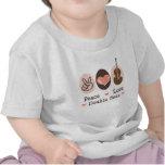 Camiseta del bebé del bajo doble del amor de la