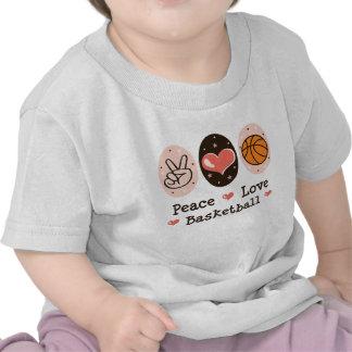 Camiseta del bebé del baloncesto del amor de la